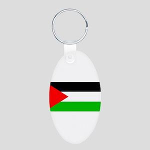 Palestineblank Aluminum Oval Keychain