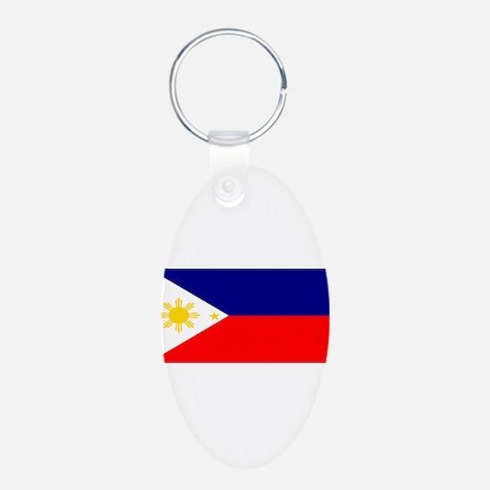Philippinesblank.jpg Aluminum Oval Keychain