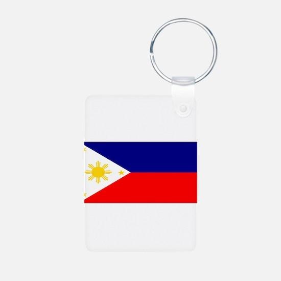 Philippinesblank.jpg Aluminum Photo Keychain