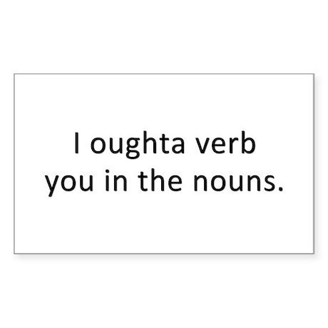 Verb Your Nouns - Rectangle Sticker