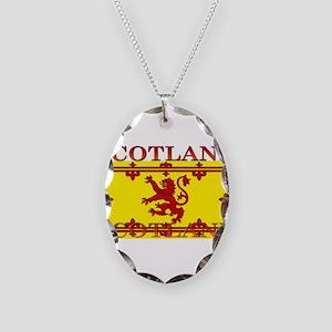 Scotland Necklace Oval Charm