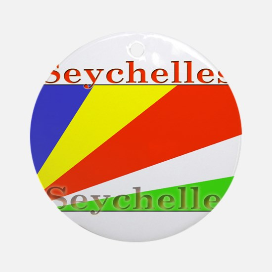 Seychelles.png Ornament (Round)