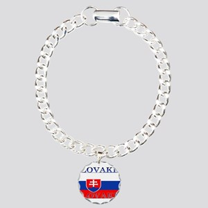 Slovakiablack Charm Bracelet, One Charm