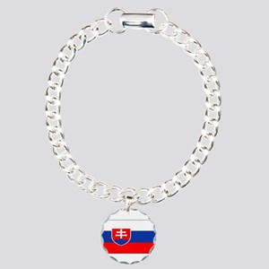 Slovakiablackblank Charm Bracelet, One Charm