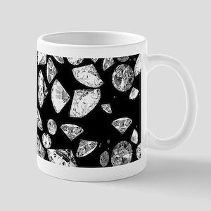 3D diamonds on black Mugs