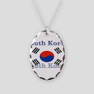 SouthKorea Necklace Oval Charm