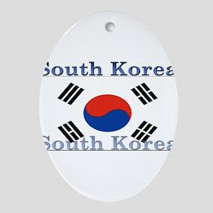 SouthKorea Ornament (Oval)