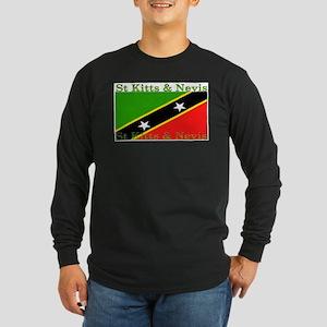 StKittsNevis Long Sleeve Dark T-Shirt