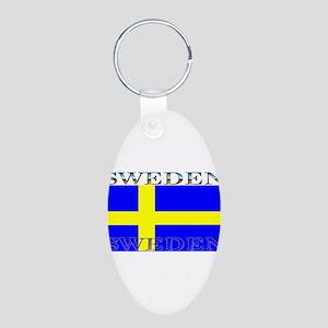 Swedenblack Aluminum Oval Keychain