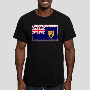 TurksCaicos Men's Fitted T-Shirt (dark)