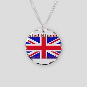 UnitedKingdom Necklace Circle Charm