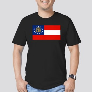 Georgiablank Men's Fitted T-Shirt (dark)