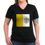 Vaticanblank Women's V-Neck Dark T-Shirt