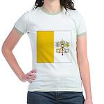 Vaticanblank Jr. Ringer T-Shirt