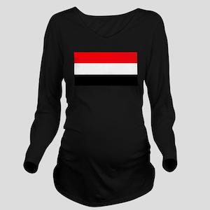 Yemenwhiteblank Long Sleeve Maternity T-Shirt