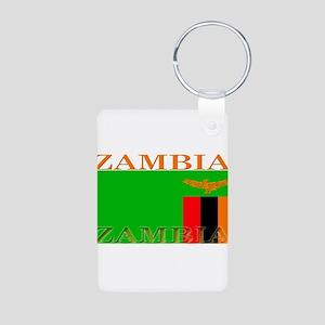 Zambia Aluminum Photo Keychain