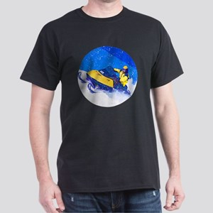 Yellow Snowmobile in Blizzard T-Shirt