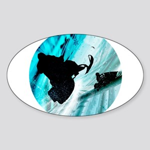 Snowmobiling on Icy Trails Sticker