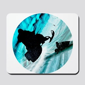 Snowmobiling on Icy Trails Mousepad