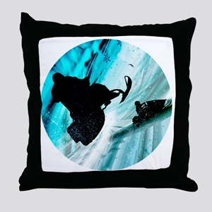 Snowmobiling on Icy Trails Throw Pillow