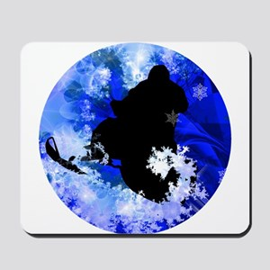 Snowmobiling in the Avalanche Mousepad