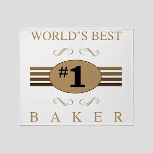 World's Best Baker Throw Blanket