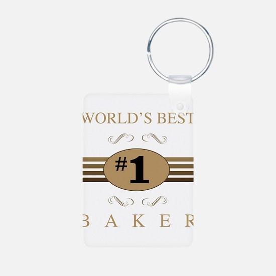 World's Best Baker Keychains