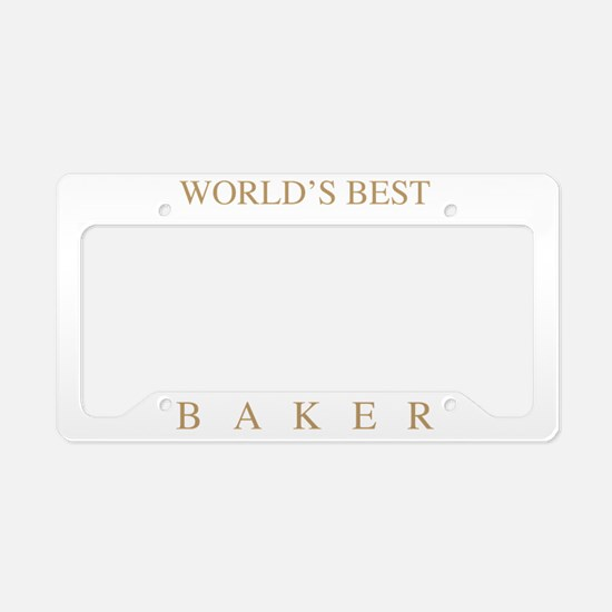 World's Best Baker License Plate Holder