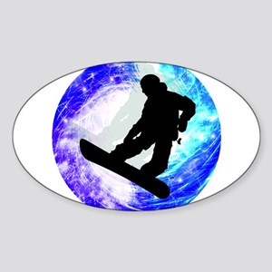 Snowboarder in Whiteout Sticker
