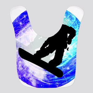 Snowboarder in Whiteout Bib