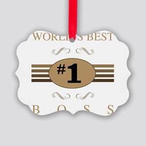 World's Best Boss Picture Ornament