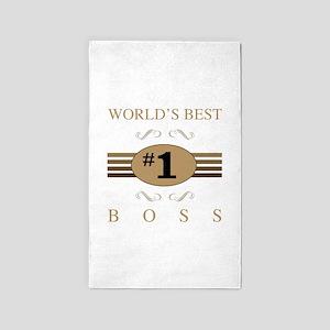 World's Best Boss 3'x5' Area Rug