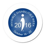 2016 Invisible Disabilities Week Round Car Magnet