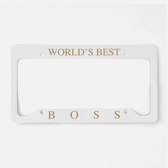 World's Best Boss License Plate Holder