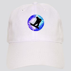 Snowboarder in Whiteout Cap