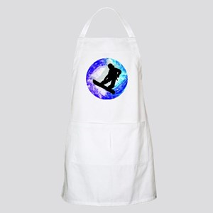 Snowboarder in Whiteout Apron