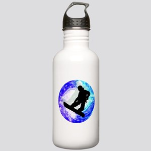 Snowboarder in Whiteou Stainless Water Bottle 1.0L
