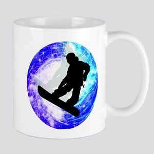 Snowboarder in Whiteout Mugs