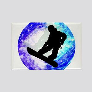 Snowboarder in Whiteout Magnets