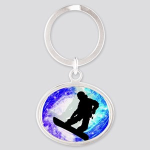 Snowboarder in Whiteout Keychains