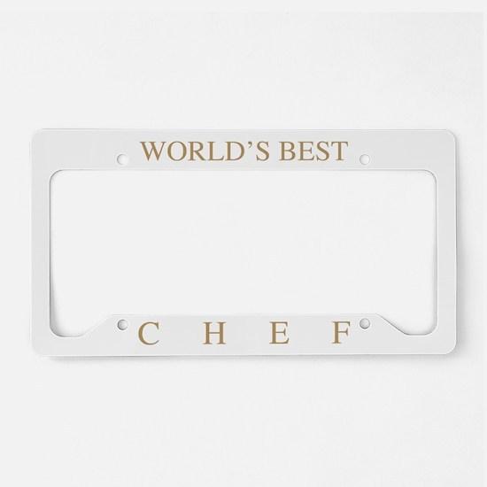 World's Best Chef License Plate Holder