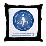 2016 Invisible Disabilities Week Throw Pillow