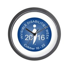 2016 Invisible Disabilities Week Wall Clock