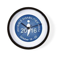2016 Invisible Disabilities Week Wall Clock