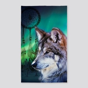 native dream catcher wolf northern 3'x5' Area Rug