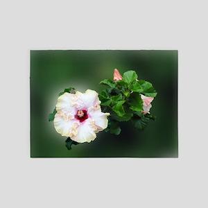 Hibiscus Flower 5'x7'Area Rug