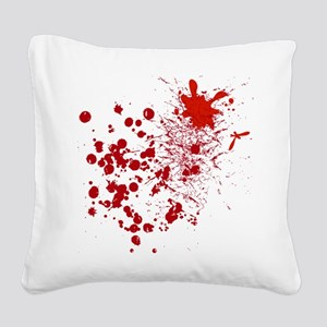 So Much Blood Square Canvas Pillow