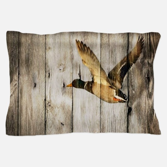 barnwood wild duck Pillow Case