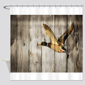 barnwood wild duck Shower Curtain