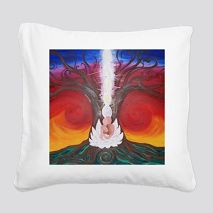 Tree Life Art The Lovers Square Canvas Pillow